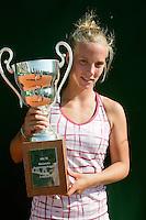 15-8-09, Den Bosch,Nationale Tennis Kampioenschappen, Finale vrouwen,   Richel Hogenkamp de Nederlads Kampioene