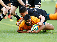 5th September 2021; Optus Stadium, Perth, Australia: Bledisloe Cup international rugby, Australia versus New Zealand; Folau Fainga'a of the Wallabies scores a try during the second half