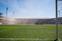 17th April 2021; Kenilworth Road, Luton, Bedfordshire, England; English Football League Championship Football, Luton Town versus Watford; The players observe a minutes silence to honour the life of Prince Philip, Duke of Edinburgh, who died in Windsor Castle on 9th April 2021.
