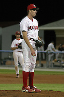 August 28, 2003:  Pitcher Scott Mathieson of the Batavia Muckdogs, Class-A affiliate of the Philadelphia Phillies, during a NY-Penn League game at Dwyer Stadium in Batavia, NY.  Photo by:  Mike Janes/Four Seam Images