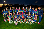 AbbeyKilLix Camogie Club looking forward to representing Kerry at John West Féile in Croke Park at the end of October standing with their club secretary Siobhán O'Donoghue