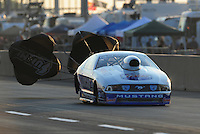 Jul, 9, 2011; Joliet, IL, USA: NHRA pro stock driver Larry Morgan during qualifying for the Route 66 Nationals at Route 66 Raceway. Mandatory Credit: Mark J. Rebilas-