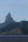 """Mt Rotui on Moorea - the original inspiration for """"Bali Hai""""."""