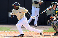 UCF Knights outfielder Ronnie Richardson #2 at bat during a game against the Siena Saints at the UCF Baseball Complex on March 4, 2012 in Orlando, Florida.  Central Florida defeated Siena 15-2.  (Mike Janes/Four Seam Images)