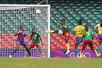 RENATA COSTA of Brazil scores the second goal - Brazil Women vs Cameroon Women - Womens Olympic Football Tournament London 2012 Group E at the Millenium Stadium, Cardiff, Wales - 25/07/12 - MANDATORY CREDIT: Gavin Ellis/SHEKICKS/TGSPHOTO - Self billing applies where appropriate - 0845 094 6026 - contact@tgsphoto.co.uk - NO UNPAID USE.