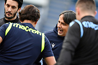 Simone Inzaghi coach of SS Lazio reacts during the warm up prior to the Serie A football match between SS Lazio and ACF Fiorentina at Olimpico stadium in Roma (Italy), January 6th, 2021. Photo Andrea Staccioli / Insidefoto