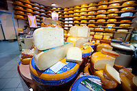 The Vantage Travel Cruise, MS Discovery II along the canals of the Netherlands. Cheese shop in Schoonhoven.