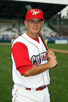 July 4th 2008:  Tim Binkoski (26) of the Williamsport Crosscutters, Class-A affiliate of the Philadelphia Phillies, during a game at Bowman Field in Williamsport, PA.  Photo by:  Mike Janes/Four Seam Images