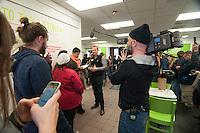 """Morgan Spurlock opens """"Holy Chicken,"""" a faux fast food restaurant in Columbus, Ohio, where a documentary crew recorded his interaction with customers who thought they were dining at a new type of fast food restaurant. However, the entire location was designed to be part of his documentary highlighting the marketing of food that may not be as healthy as it is stated in advertisement, banners, and notices at the restaurant."""