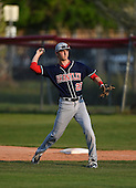 Lake Brantley Patriots first baseman Paxton Rigby (22) during practice before a game against the Lake Mary Rams on April 2, 2015 at Allen Tuttle Field in Lake Mary, Florida.  Lake Brantley defeated Lake Mary 10-5.  (Mike Janes Photography)