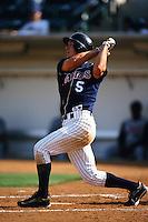 Jeremy Owens of the San Diego Padres organization plays in a California Fall League game at The Epicenter circa October 1999 in Rancho Cucamonga, California. (Larry Goren/Four Seam Images)
