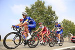 The peloton including Mikkel Frolich Honore (DEN) and Eros Capecchi (ITA) Quick-Step Floors during the 99th edition of Milan-Turin 2018, running 200km from Magenta Milan to Superga Basilica Turin, Italy. 10th October 2018.<br /> Picture: Eoin Clarke | Cyclefile<br /> <br /> <br /> All photos usage must carry mandatory copyright credit (© Cyclefile | Eoin Clarke)