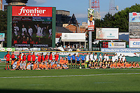 Rochester, NY - Saturday July 09, 2016: Western New York Flash and Seattle Reign FC  prior to a regular season National Women's Soccer League (NWSL) match between the Western New York Flash and the Seattle Reign FC at Frontier Field.