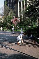 Tokyo: Cooks playing catch--Ueno Park. Photo '82.
