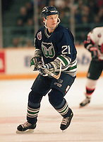 Andrew Cassels Hartford Whalers 1993. Photo F. Scott Grant