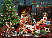 GIORDANO, CHRISTMAS ANIMALS, WEIHNACHTEN TIERE, NAVIDAD ANIMALES, paintings+++++,USGI2951M,#xa#
