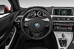 Car pictures of steering wheel view of a 2016 BMW 6 Series 650i 3 Door Coupe Steering Wheel