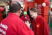Labour MP Glenda Jackson canvasses during the 2010 General Election campaign in the newly created marginal constituency of Hampstead and Kilburn.