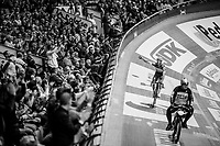 victory for Iljo Keisse (BEL/Deceuninck-QuickStep) in the derny race<br /> <br /> Lotto 6daagse Vlaanderen-Gent 2018 / Gent6<br /> day 5