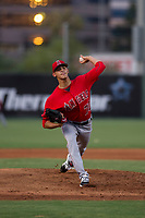 AZL Angels relief pitcher Jerryell Rivera (70) delivers a pitch during a game against the AZL Giants on July 9, 2017 at Diablo Stadium in Tempe, Arizona. AZL Giants defeated the AZL Angels 8-4. (Zachary Lucy/Four Seam Images)