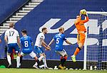 22.08.2020 Rangers v Kilmarnock: Jon McLaughlin mops up the danger