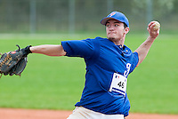 18 April 2006: Joris Bert throws the ball during the third of seven 2006 MLB European Academy Try-out Sessions throughout Europe, at Stade Pershing, INSEP, near Paris, France. Try-out sessions are run by members of the Major League Baseball Scouting Bureau with assistance from MLBI staff.