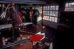 Rowing, Harvard University, Newell Boathouse, Harvard oars, rowing tradition, Cambridge, Massachusetts, New England, USA, North America,.
