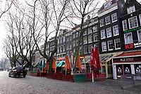 Nederland  Amsterdam - 31 december 2020. Thorbeckeplein. Horeca is gesloten.   Foto : ANP/ HH / Berlinda van Dam