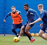 03.05.2019 Rangers training: Alfredo Morelos and Ryan Kent