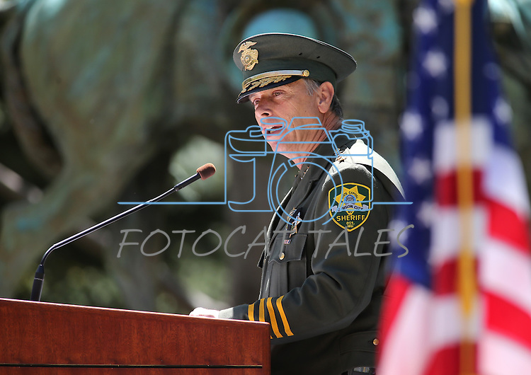Carson City Sheriff Ken Furlong speaks at the Nevada Law Enforcement Officers Memorial Ceremony on Thursday, May 2, 2013, at the Capitol in Carson City, Nev..Photo by Cathleen Allison