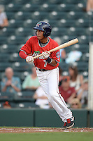 Fort Myers Miracle shortstop Engelb Vielma (7) squares to bunt during a game against the Tampa Yankees on April 15, 2015 at Hammond Stadium in Fort Myers, Florida.  Tampa defeated Fort Myers 3-1 in eleven innings.  (Mike Janes/Four Seam Images)