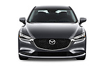 Car photography straight front view of a 2019 Mazda Mazda6 Sport 4 Door Sedan