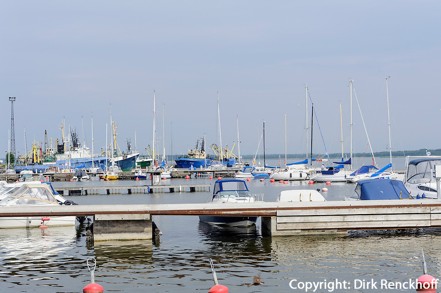 Sportboothafen von Haapsalu, Estland, Europa