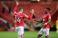 Conor Washington celebrates scoring Charlton's opening goal with Ian Maatsen during Charlton Athletic vs AFC Wimbledon, Sky Bet EFL League 1 Football at The Valley on 12th December 2020