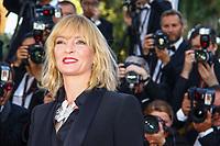 Uma Thurman, sur le tapis rouge pour la projection du film D APRES UNE HISTOIRE VRAIE, hors competition lors du soixante-dixième (70ème) Festival du Film à Cannes, Palais des Festivals et des Congres, Cannes, Sud de la France, samedi 27 mai 2017.