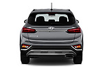 Straight rear view of 2020 Hyundai Santa-FE SE 5 Door SUV Rear View  stock images