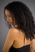 African American woman in studio