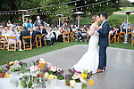 Josh & Lauren Carlton dancing at their wedding reception.