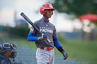 Cesar Paula (3) during the Dominican Prospect League Elite Underclass International Series, powered by Baseball Factory, on August 31, 2017 at Silver Cross Field in Joliet, Illinois.  (Mike Janes/Four Seam Images)