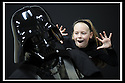 03/05/2009  Copyright  Pic : James Stewart.03_the_buzz.**** FREE FIRST USE WHEN USED IN RELATION TO  OPENING OF THE BUZZ ****.THE UK'S LARGEST SOFT PLAY AND LASER QUEST ARENA OPENS IN FALKIRK...... .ELLIE MCGREGOR (11) WITH DARTH VADER, WHO OPENED THE CENTRE......For more information contact Jonathan Kennedy or Alison Jack at Wave PR on 0141 303 8390 / 07803 137262..James Stewart Photography 19 Carronlea Drive, Falkirk. FK2 8DN      Vat Reg No. 607 6932 25.Telephone      : +44 (0)1324 570291 .Mobile              : +44 (0)7721 416997.E-mail  :  jim@jspa.co.uk.If you require further information then contact Jim Stewart on any of the numbers above.........