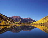 Mirror Lake near Ouray, Colorado.<br /> <br /> Mamiya RB67 Pro SD, Fuji Provia 100 film