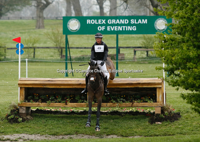 April 24, 2021: #49 Diachello and rider Jesse Campbell in the Cross Country test at the Land Rover Three Day Event at the Kentucky Horse Park in Lexington, KY on April 24, 2021.  Candice Chavez/ESW/CSM