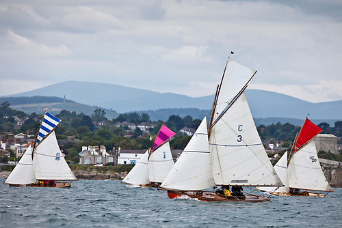 The 1898-founded Howth 17s racing at the Volvo Dun Laoghaire Regatta