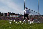 Paul Geaney scores Kerry's second goal during the Munster GAA Football Senior Championship Final match between Kerry and Cork at Fitzgerald Stadium in Killarney on Sunday.