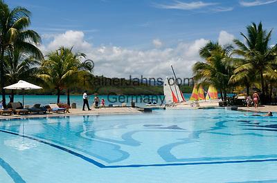 MUS, Mauritius, Grand Port, bei Mahébourg, Shandrani Hotel - Pool   MUS, Mauritius, Grand Port, near Mahébourg, Shandrani Hotel - Pool