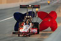 Feb. 27, 2011; Pomona, CA, USA; NHRA top fuel dragster driver Shawn Langdon during the Winternationals at Auto Club Raceway at Pomona. Mandatory Credit: Mark J. Rebilas-.