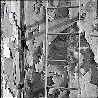 Ladder on distressed wall<br />