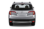 Straight rear view of 2022 Honda Pilot Touring-2WD 5 Door suv Rear View  stock images