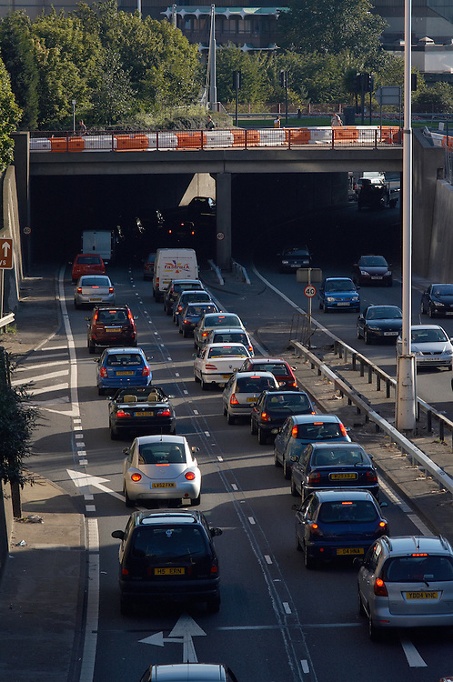 © John Angerson <br /> traffic jams and congestion on the busy highways and roads of new business city of Leeds west yorkshire
