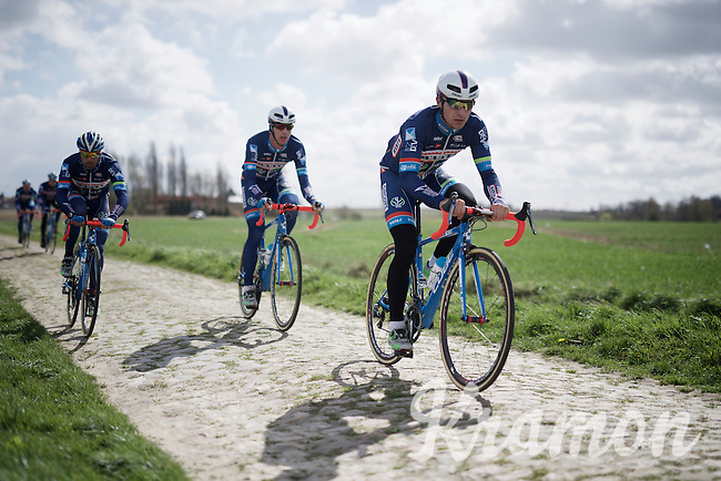 Team Wanty-Groupe Gobert during recon of the 114th Paris - Roubaix 2016